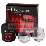 Dictator 12Y 40% 0,7l+2 poháre