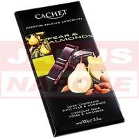Cachet hruška-mandľa horká čokoláda 100G