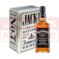Jack Daniel's 40% 0,7L + 2 poháre (plech) (DB)