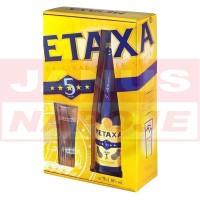 Metaxa 5* 38% 0,7L + 2 poháre (DB)