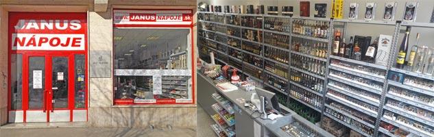 JANUSNÁPOJE - predajňa Bulvár